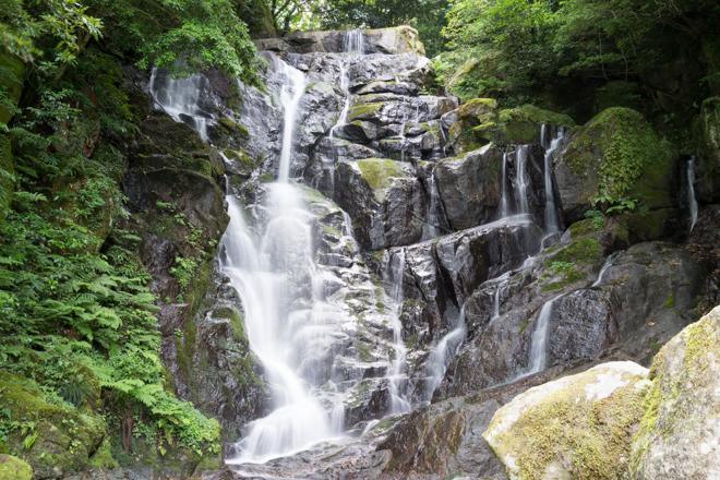 三脚で滝を撮影