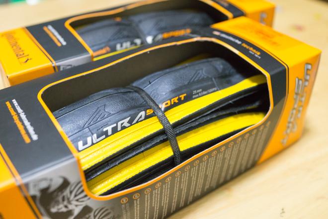 タイヤをUltra Sports2(イエロー)に交換【初めてのタイヤ交換】