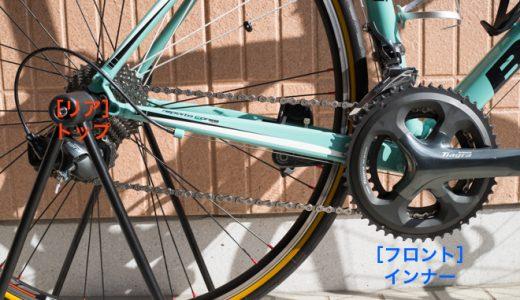 自転車の保管は「インナートップ」状態で。