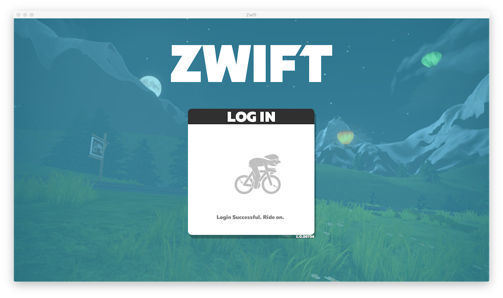 Zwiftが起動