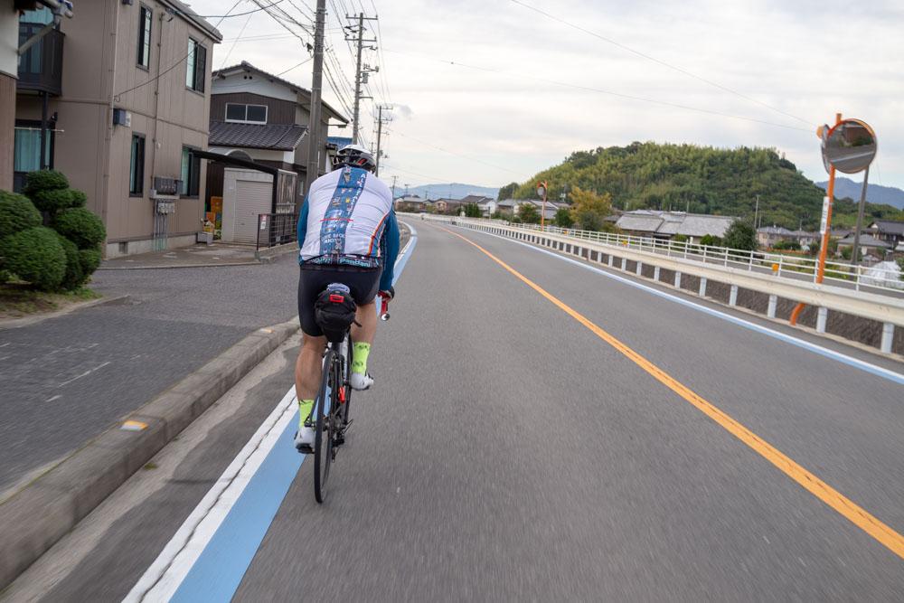 因島を走る