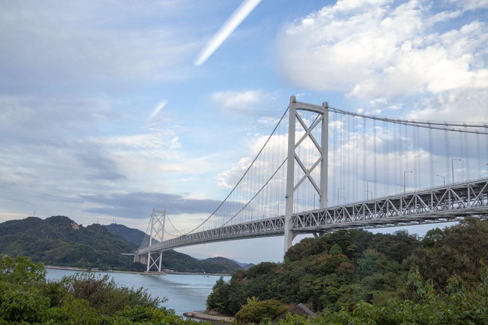 因島大橋を見ながら大福