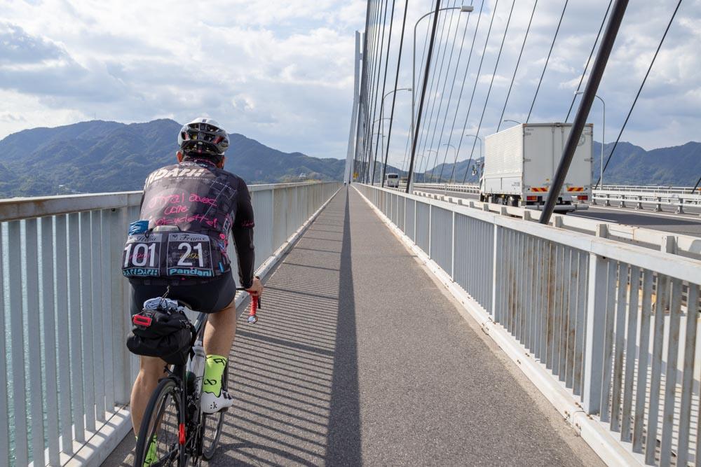多々羅大橋を走る