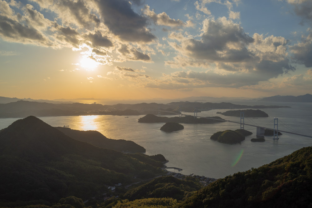 亀老山展望公園の絶景