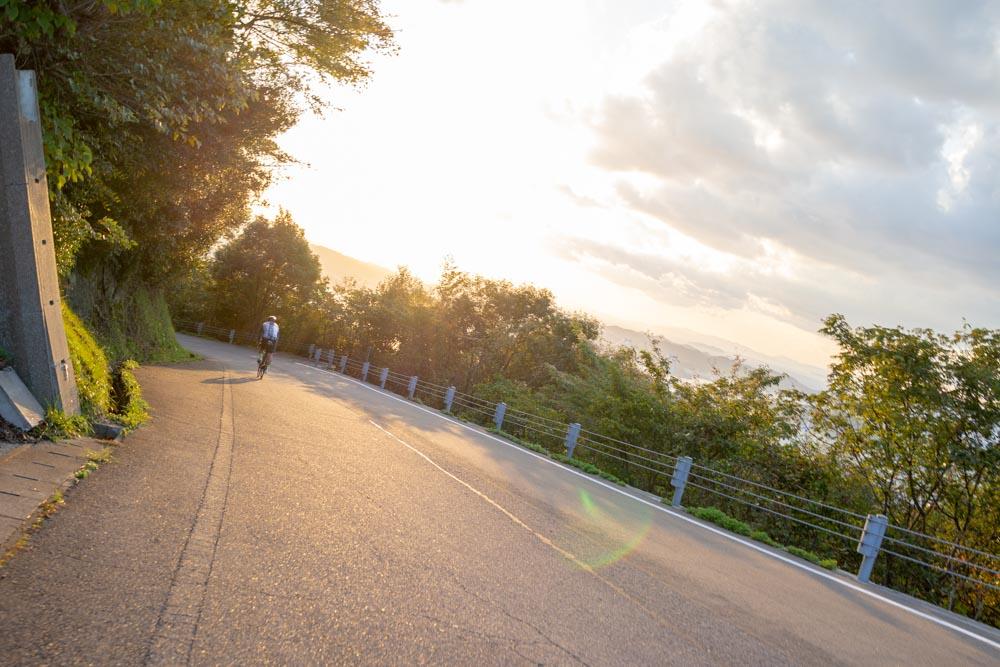 亀老山展望公園を下る