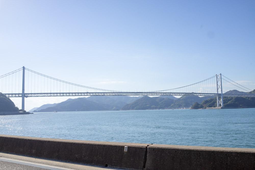 因島大橋が見える