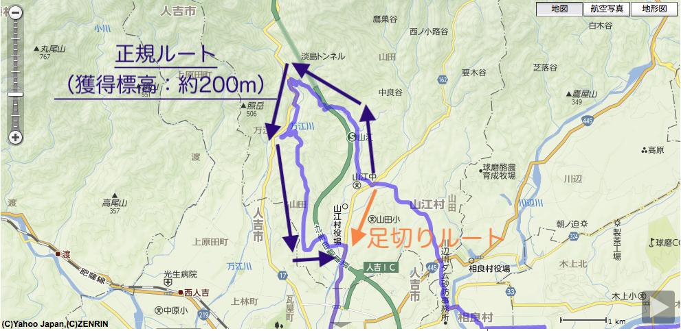 地図上でのショートカットイメージ