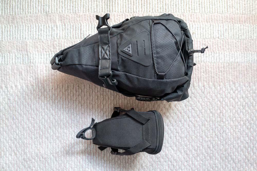 TOPEAKのサドルバッグと比較