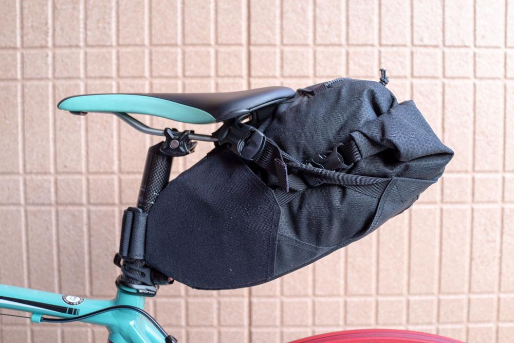 ロードバイクにバックローダーを取り付け