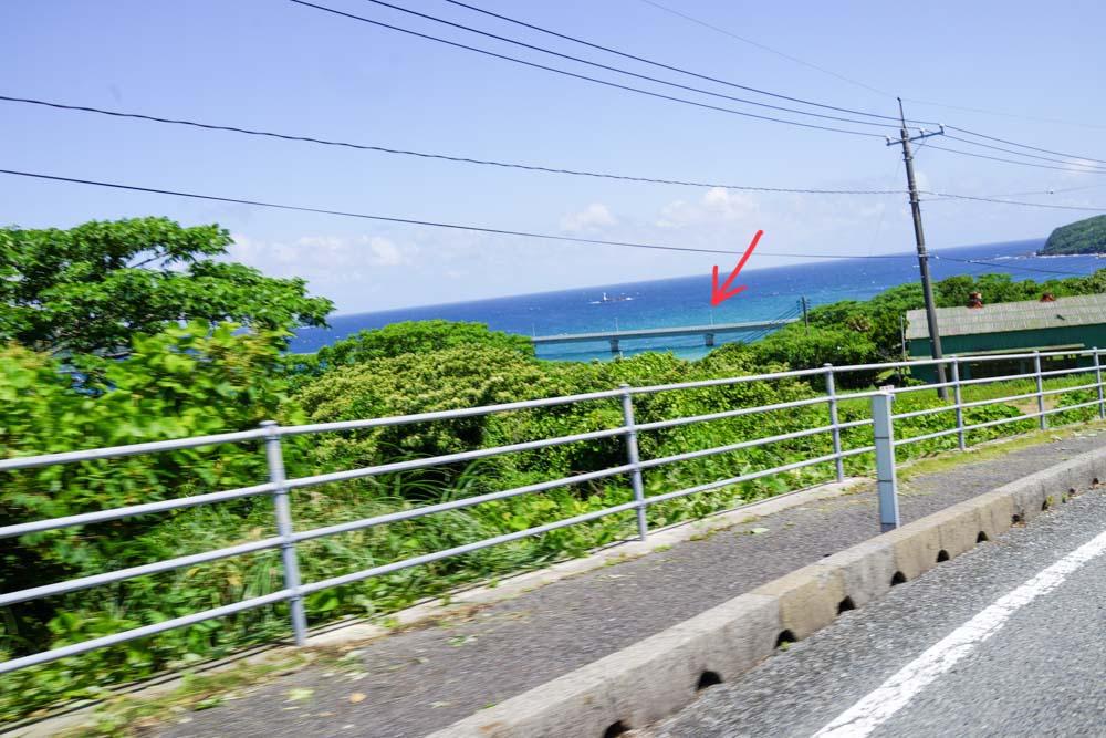 角島大橋が見えてきた